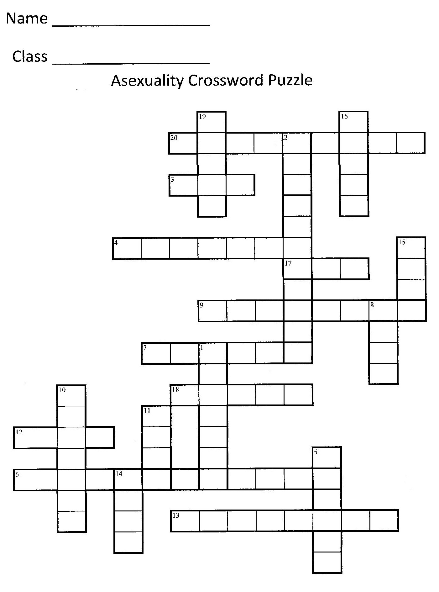 Make your own sex crossword puzzle